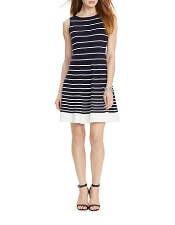 Lauren Ralph Lauren Petite Striped Sweater Dress