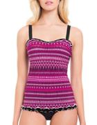 Profile By Gottex Indian Sunset Underwired D-cup Tankini Top