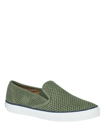 Sperry Seaside Perforated Leather Sneakers