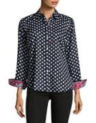 Lord & Taylor Polka Dot Button-down Shirt