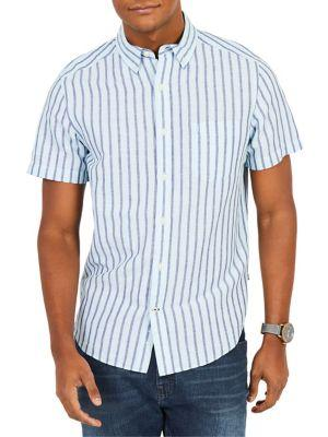 Nautica Classic-fit Stripe Button-down Shirt