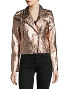 Blanknyc Metallic Moto Jacket