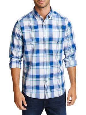 Nautica Plaid Classic-fit Button-down Shirt