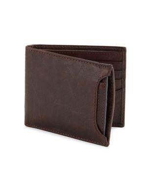 Fossil Stitched Leather Bi-fold Wallet