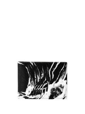 Vida Printed Leather Slimfold Wallet