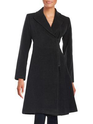 T Tahari Asymmetrical Zip Coat