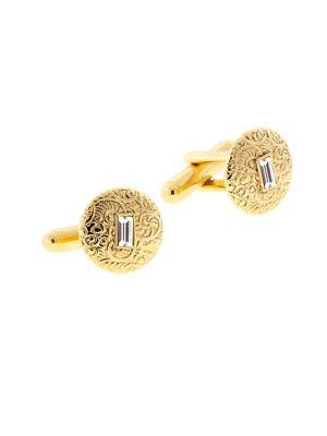 Lord Taylor Crystal-embellished Small Round Cufflinks