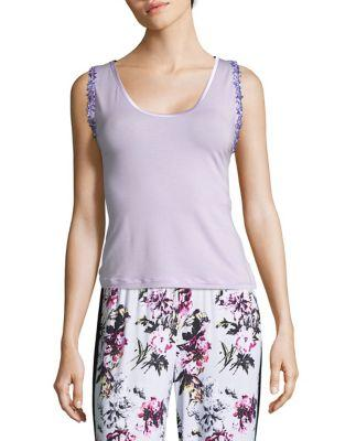La Perla Lilac Bloom Tank Top