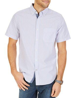 Nautica Classic Fit Striped Short-sleeve Cotton Shirt