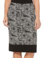 Rafaella Printed Tube Skirt