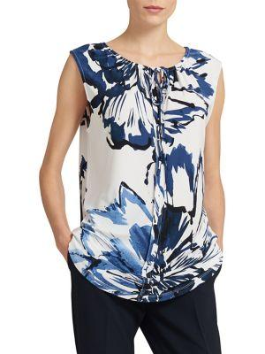 Donna Karan Printed Sleeveless Top