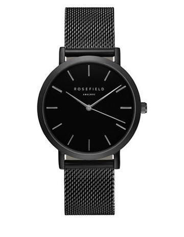 Rosefield The Mercer Stainless Steel Battery Powered Analog Mesh Bracelet Watch
