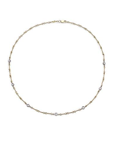 Roberto Coin Diamond & 18k Yellow Gold Station Necklace