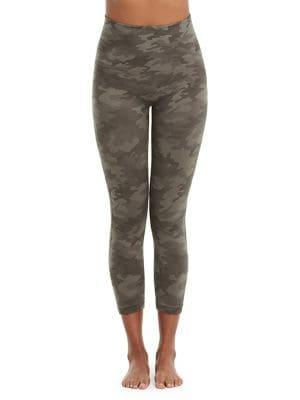 Spanx Cropped Look At Me Now Camo Shaping Leggings
