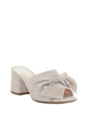 Vince Camuto Sharrey Suede Bow Mules