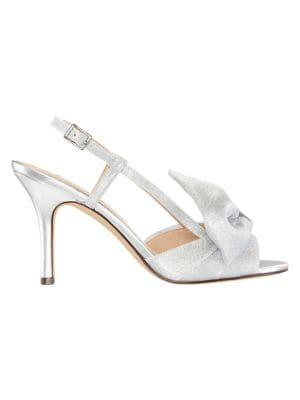 Nina Vianna Metallic Slingback Heeled Sandals