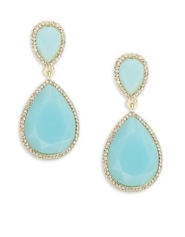 A.b.s. By Allen Schwartz Turquoise Teardrop Earrings