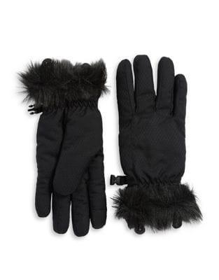 Eddie Bauer Sun Valley Faux Fur Trimmed Gloves