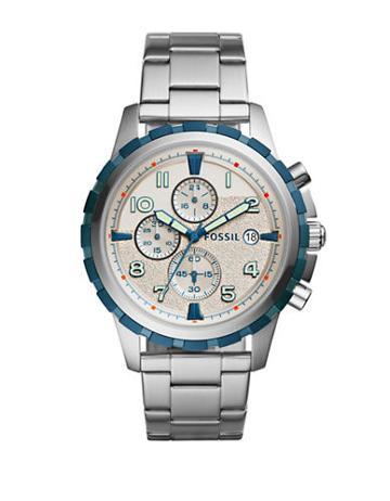 Fossil Casual Dean Three-hand Stainless Steel Bracelet Quartz Chronograph Watch