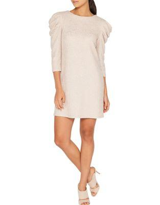 Miss Selfridge Metallic Puff-sleeve Dress
