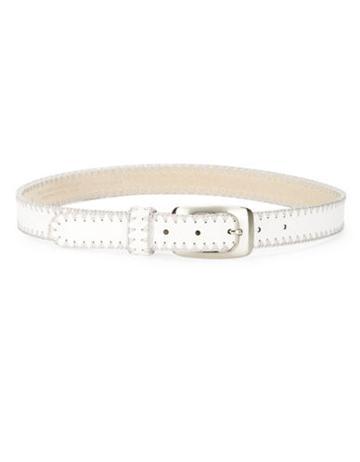 Fashion Focus Stitched Faux Leather Belt