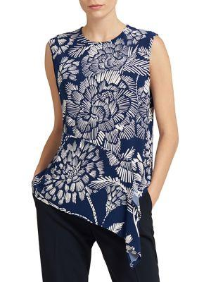 Donna Karan Sleeveless Draped Blouse