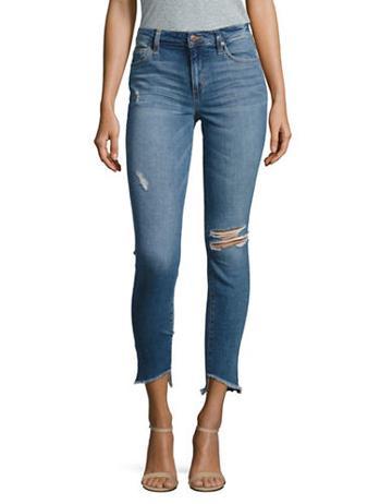 Joe's Jeans Blondie Step Hem Distressed Ankle Skinny Jeans