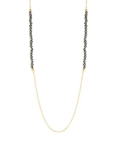 Lord & Taylor Bead Accented Opera Necklace