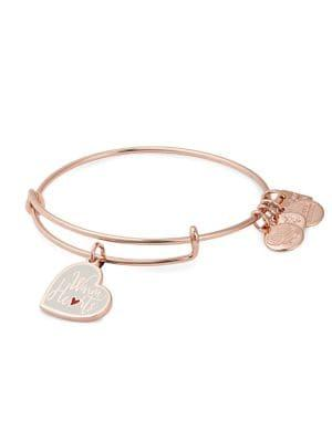 Alex And Ani Rose Goldtone Warm Heart Charm Bracelet
