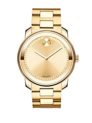 Movado Bold Bold Yellow Gold Stainless Steel Watch