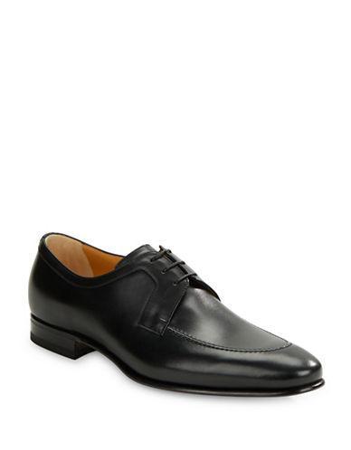 A. Testoni Moctoe Leather Oxfords