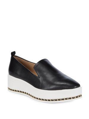 Karl Lagerfeld Paris Brea Leather Platform Loafers