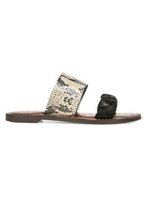 Sam Edelman Summer In The City Gage Two-strap Leather Slides