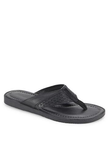 Tommy Bahama Leather Flip Flops