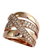 Effy Final Call Diamond And 14k Rose Gold Ring