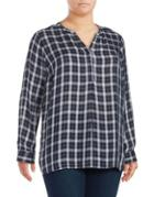 Nydj Plus Plaid Blouse