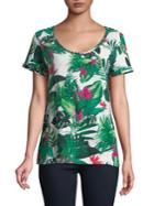 Lord & Taylor Scoopneck Floral Tee
