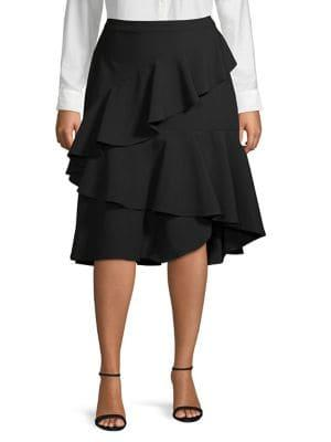 Vince Camuto, Plus Size Plus Plus Ruffle Skirt