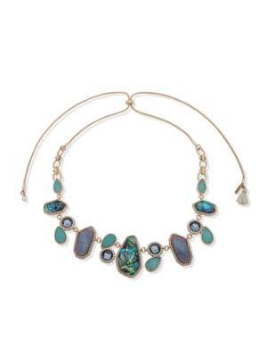 Lonna & Lilly Goldtone, Mother-of-pearl & Crystal Necklace