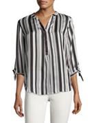 Ivanka Trump Stripe Printed Blouse