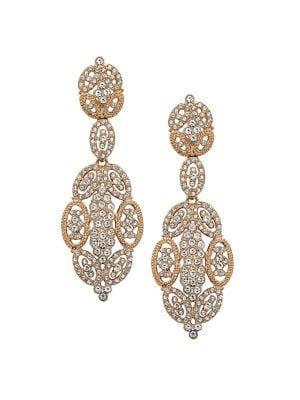 Nina Swarovski Crystal Statement Earrings