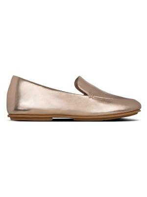 Fitflop Lena Faux-leather Metallic Loafers