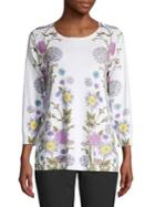 Joseph A Floral Long-sleeve Pullover