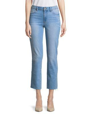 Paige Distressed Cropped Jeans
