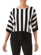 Olsen Vertical Stripe Sweater