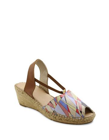 Andre Assous Dainty Fabric Espadrille Wedge Sandals