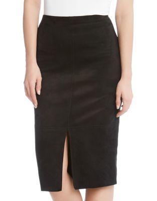 Karen Kane Faux Suede Mini Skirt