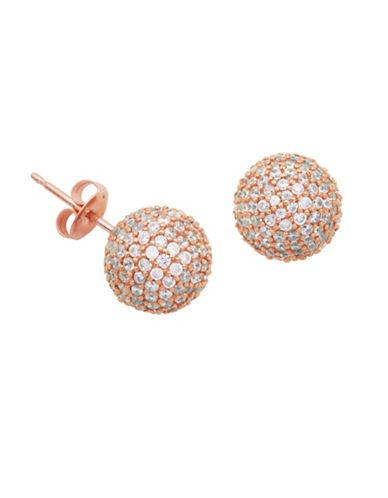 Lord & Taylor White Sapphire Ball Stud Earrings