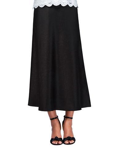 Alex Evenings Solid A-line Skirt