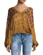 Free People Rib-knitted Bell Top